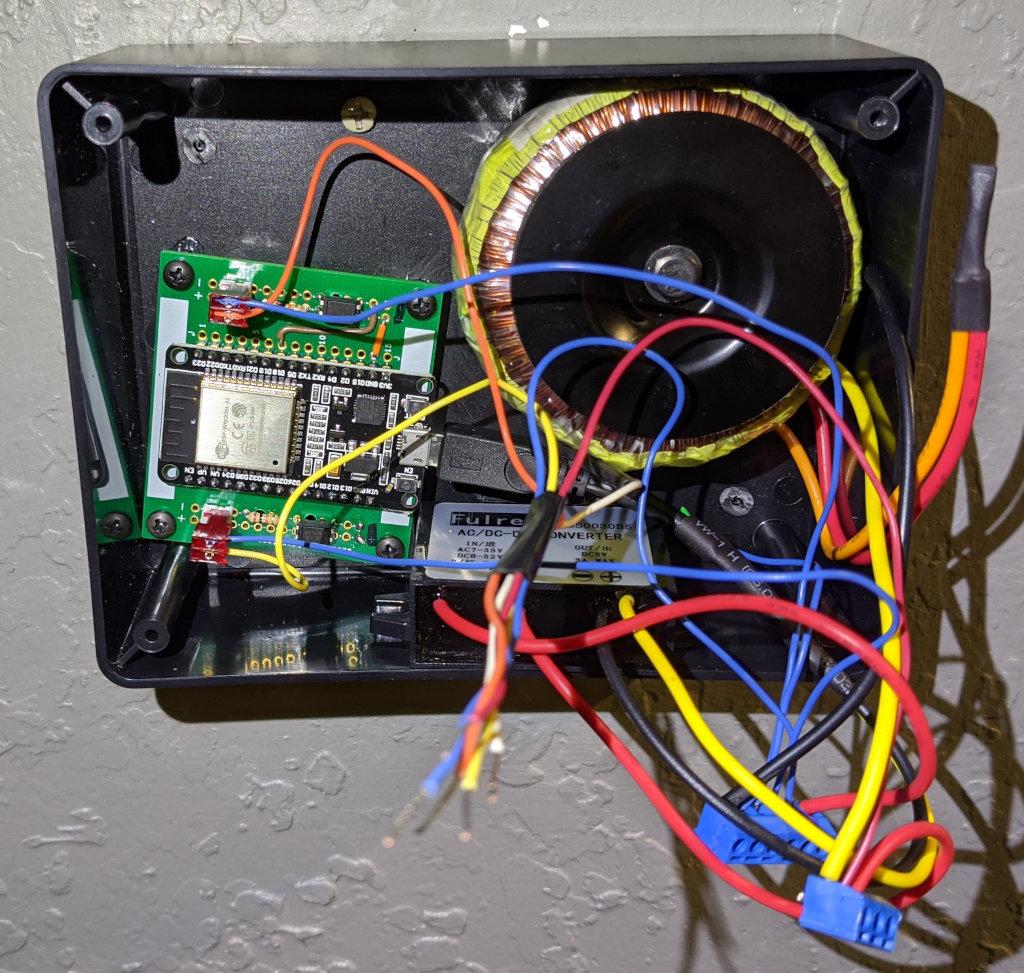 Thermostat enclosure with ESP32